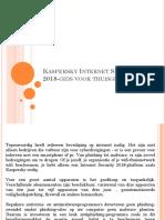 Kaspersky Internet Security 2018-Gids Voor Thuisgebruikers?
