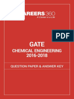 Gate 2016-18 question paper CH