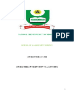 ACC 812 Introduction to Accounting