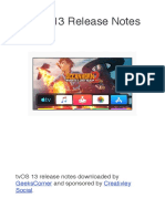 TvOS 13 Release Notes