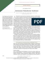 NEJM Review Mar 2018 Autoimmune Polyendocrine Syndromes