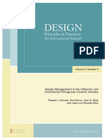 Design Management in the Utilitarian and Ornamental Portuguese Ceramic Industry