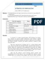Expt 6 BJT Characteristics (CE Configuration)