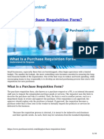 What is a Purchase Requisition Form