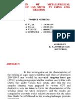 Investigation of Metallurgy