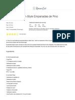 Chilean Empanadas de Pino Recipe