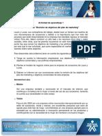 Evidencia 11 Informe Revision de Objetivos Del Plan de Marketing