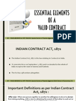 Law - Indian Contract Act, 1872 (1 of 6)
