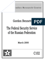 The Federal Security Service of the Russian Federation, by Gordon Bennett (March, 2000)