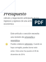 Presupuesto - Wikipedia, La Enciclopedia Libre