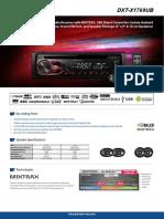 Car Audio DXT X1769UB