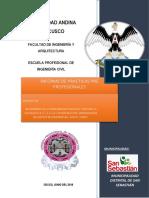 informe practicas mejoramiento de transitabilidad