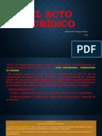 El Acto Jurídico, Clasificación y Elementos.pptm