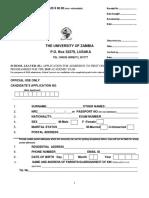 School Leaver Application Form 2019