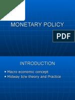 Monetary Policy 1