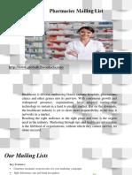 Pharmacies Mailing List