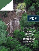 Relatorio Violencia Contra Os Povos Indigenas Brasil 2018