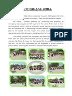 Earthquake Drill Report