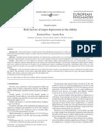 European Psychiatry Volume 20 Issue 3 2005 [Doi 10.1016_j.eurpsy.2004.09.036] Reinhard Heun; Sandra Hein -- Risk Factors of Major Depression in the Elderly