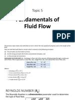 Topic 5 Fundamentals of Fluid Flow