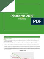 2019 Green Platform Costing