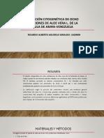 Evaluación Citogenética de Ocho Poblaciones de Aloe Vera