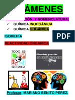 Exámenes. Reacciones Orgánicas. Isomería. Formulación