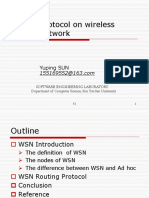 Routing Protocol on Wireless Sensor Network