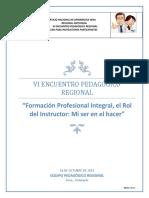 Guia VI Encuentro Pedagogico Regional Cartilla Participantes