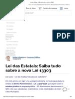 L13303 - Lei Das Estatais - Estratégia