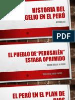 Historia Del Evangelio en El Perú
