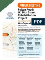 Fulton Rd PHASE 2 Design 9-25-19 Mtg Flyer