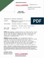Memorandum of telephone conversation between President Trump and Ukrainian President Zelenskyy on July 25, 2019