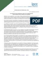 Informe IPCC - Septiembre 2019