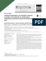 Trastornos depresivos y de ansiedad y factores asociados en la población de adolescentes colombianos, Encuesta Nacional de Salud Mental 2015