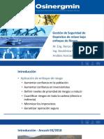 Gestión de Seguridad de Depósitos de relave bajo enfoque de Riesgo