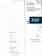 ENZENSBERGER, HANS MAGNUS - Elementos Para Una Teoría de Los Medios de Comunicación - Editorial Anagrama - España - 1984 - 74 p.