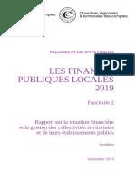 Les Finances Publiques Locales 2019 - Fascicule 2, Synthèse