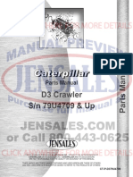 Caterpillar d3 Crawler Parts Manual Sn 79u4709 and Up