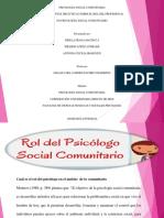 Rol del psicólogo social comunitario