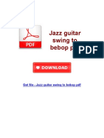 Jazz Guitar Swing to Bebop PDF