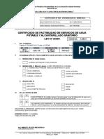 003-N° 0008787- CERTIFICADO MULTISERVICIOS ARY E.I.R.L. -Urb. EL VALLE