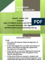 Leadership Historical Legacies 1.ppt