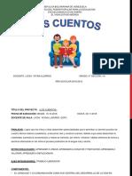 PRIMER PROYECTO LOS CUENTOS