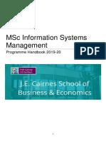 MScISM Programme Handbook 2019 20 (2)