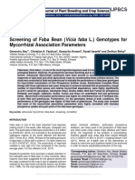 Screening of Faba Bean (Vicia faba L.) Genotypes for Mycorrhizal Association Parameters