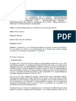 La responsabilidad médica en el Código Civil y Comercial de la Nación GHERSI 2016