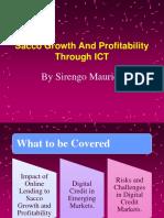 Sacco Growth and Profitability Through Ict