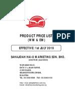 Malaysia - July  Price List 2019.pdf