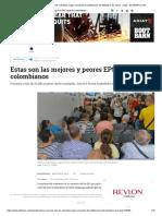 Mejores y Peores EPS de Colombia, Según Encuesta de Satisfacción Del Ministerio de Salud - Salud - ELTIEMPO.com